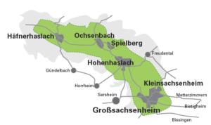 Lage Ortsteile grün